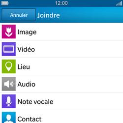 BlackBerry Q5 - MMS - envoi d'images - Étape 9