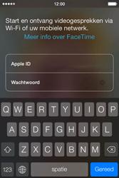 Apple iPhone 4 met iOS 7 - Applicaties - FaceTime gebruiken - Stap 5