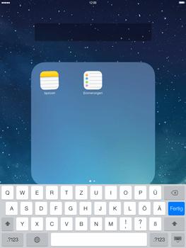 Apple iPad mini iOS 7 - Startanleitung - Personalisieren der Startseite - Schritt 6