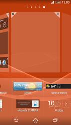 Sony Xperia Z3 - Operazioni iniziali - Installazione di widget e applicazioni nella schermata iniziale - Fase 5