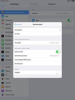 Apple ipad-pro-10-5-inch-ios-12 - E-mail - Account instellen (IMAP met SMTP-verificatie) - Stap 24