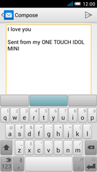 Alcatel OT-6012X Idol Mini - Email - Sending an email message - Step 9