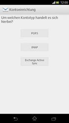 Sony Xperia V - E-Mail - Manuelle Konfiguration - Schritt 6