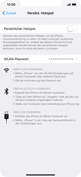 Apple iPhone XS Max - Internet - Mobilen WLAN-Hotspot einrichten - 3 / 7