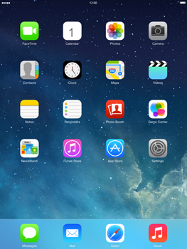Apple iPad mini iOS 7 - Internet and data roaming - How to check if data-connectivity is enabled - Step 1