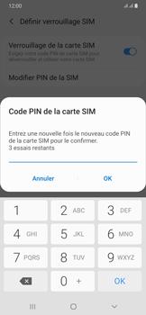 Samsung Galaxy A50 - Sécuriser votre mobile - Personnaliser le code PIN de votre carte SIM - Étape 11