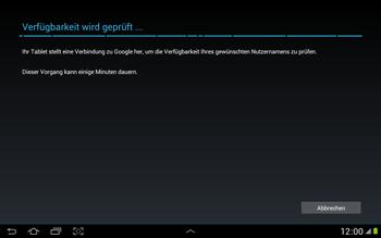 Samsung N8000 Galaxy Note 10-1 - Apps - Konto anlegen und einrichten - Schritt 7