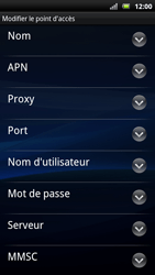 Sony Xperia Neo - Internet - Configuration manuelle - Étape 8