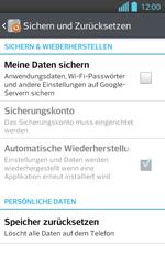LG P710 Optimus L7 II - Fehlerbehebung - Handy zurücksetzen - Schritt 7