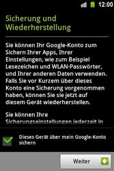 Samsung Galaxy Ace - Apps - Konto anlegen und einrichten - 18 / 22