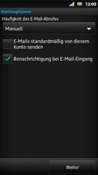Sony Xperia Sola - E-Mail - Konto einrichten - Schritt 14