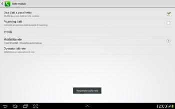 Samsung Galaxy Tab 2 10.1 - Rete - Selezione manuale della rete - Fase 10
