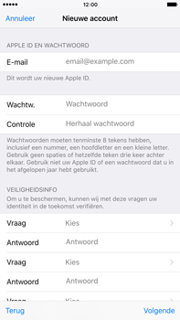 Apple iPhone 6 Plus (iOS 9) - apps - account instellen - stap 12
