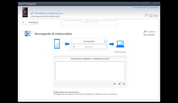 Sony Xperia Z - Logiciels - Comment effectuer une sauvegarde de votre appareil - Étape 4