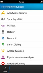 BlackBerry Z10 - Anrufe - Rufumleitungen setzen und löschen - Schritt 6