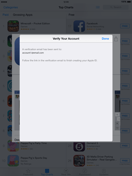 Apple iPad mini - iOS 8 - Applications - Setting up the application store - Step 25