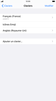 Apple iPhone 7 Plus - iOS 13 - Prise en main - Comment ajouter une langue de clavier - Étape 8