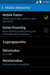 Samsung Galaxy Young 2 - Netzwerk - Netzwerkeinstellungen ändern - 1 / 1