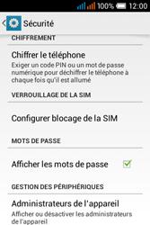 Alcatel OT-4015X Pop C1 - Sécuriser votre mobile - Personnaliser le code PIN de votre carte SIM - Étape 5