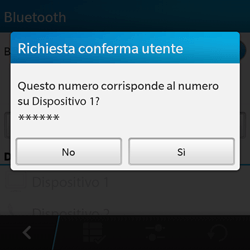 BlackBerry Q10 - Bluetooth - Collegamento dei dispositivi - Fase 8