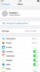 Apple iPhone 6 Plus - iOS 8 - Applications - Configuration du service iCloud d