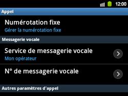 Samsung B5510 Galaxy TXT - Messagerie vocale - configuration manuelle - Étape 7