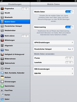 Apple iPad mini - Ausland - Auslandskosten vermeiden - 6 / 7