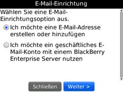 BlackBerry 8520 Curve - E-Mail - Konto einrichten - Schritt 7