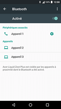 Acer Liquid Zest 4G Plus - Bluetooth - jumelage d