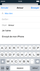 Apple iPhone 5 iOS 8 - E-mail - envoyer un e-mail - Étape 7