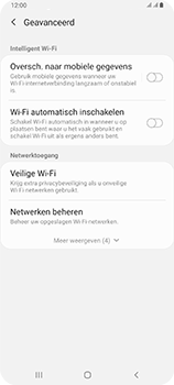 Samsung Galaxy A80 - wifi - schakel Wi-Fi Assistentie uit - stap 11