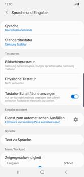Samsung Galaxy Note 10 Plus 5G - Startanleitung - So fügen Sie eine Tastatursprache hinzu - Schritt 6