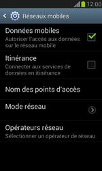 Samsung Galaxy S III Mini - Internet et roaming de données - Comment vérifier que la connexion des données est activée - Étape 7