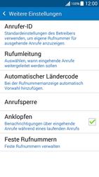 Samsung Galaxy Grand Prime - Anrufe - Rufumleitungen setzen und löschen - 6 / 11