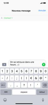 Apple iPhone XS - iOS 12 - Contact, Appels, SMS/MMS - Envoyer un SMS - Étape 8