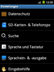 Samsung S5570 Galaxy Mini - Fehlerbehebung - Handy zurücksetzen - Schritt 6