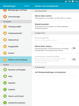 Samsung Galaxy Tab A 9.7 - Fehlerbehebung - Handy zurücksetzen - 7 / 11