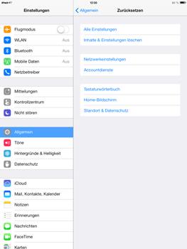 Apple iPad Air - Gerät - Zurücksetzen auf die Werkseinstellungen - Schritt 5