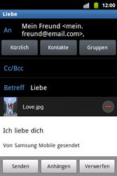 Samsung Galaxy Xcover - E-Mail - E-Mail versenden - 12 / 14