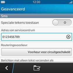 BlackBerry Q5 - SMS en MMS - Handmatig instellen - Stap 9