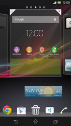 Sony Xperia Z - Getting started - Installing widgets and applications on your start screen - Step 5