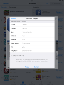 Apple iPad mini 2 - iOS 8 - Applications - Configuration de votre store d