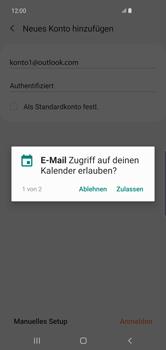 Samsung Galaxy S10 Plus - E-Mail - 032c. Email wizard - Outlook - Schritt 11