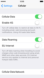 Apple iPhone 5s iOS 8 - Internet and data roaming - Disabling data roaming - Step 4