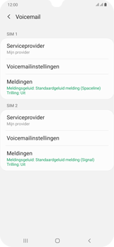 Samsung Galaxy A30 - voicemail - handmatig instellen - stap 8