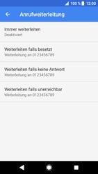 Sony Xperia XZ - Anrufe - Rufumleitungen setzen und löschen - 9 / 12