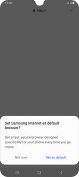 Samsung Galaxy A70 - Internet and data roaming - Using the Internet - Step 5