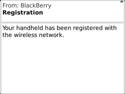 BlackBerry 9360 Curve - Settings - Configuration message received - Step 11