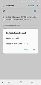 Samsung Galaxy A8 (2018) - bluetooth - headset, carkit verbinding - stap 8