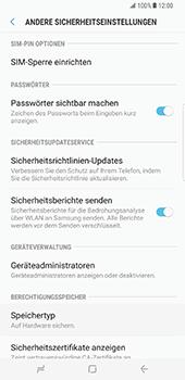 Samsung Galaxy S8 Plus - Datenschutz und Sicherheit - PIN-Code der SIM-Karte ändern - 6 / 12